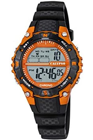 Calypso Unisex Digital Watch with LCD Dial Digital Display and Plastic Strap K5684/7
