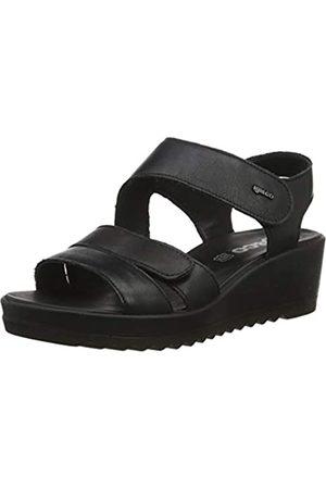 IGI&CO Women's DCY 31718 Platform Sandals, (Nero 3171800)