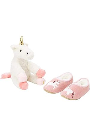 Joules Girls' Slipper and Soft Toy Gift Set Open Back, (Cream Unicorn Crmunicrn)