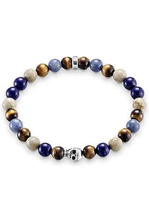 Thomas Sabo Women Men-Bracelet Rebel at Heart 925 Sterling blue natural brown Length 15.5 cm A1532-926-7-L15