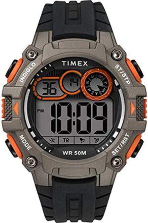Timex Men's DGTL Big Digit 48 mm Silicone Strap Watch TW5M27200