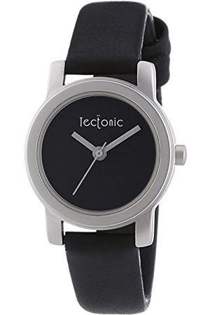 Tectonic Women's Quartz Watch with Dial Analogue Display and Leather Strap 41-1108-44