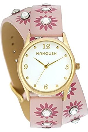 Manoush Unisex-Adult Analogue Classic Quartz Watch with PU Strap MSHDI04