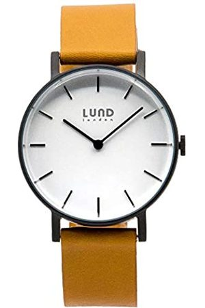 Lund London Unisex Adult Analogue Classic Quartz Watch with Leather Strap 9036