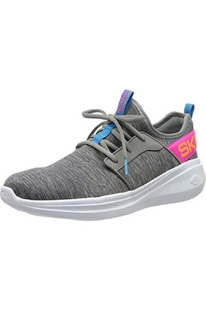 Skechers Women's Go Run Fast Trainers, (Gray Textile/Mat Trim Gymt)