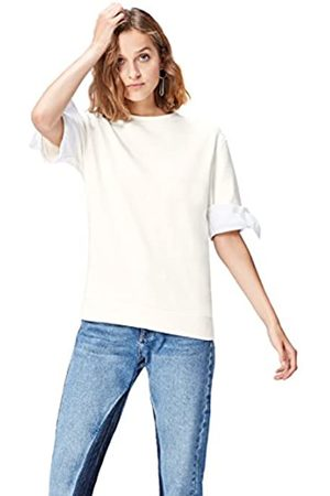 find. Women's Sweatshirt with Contrast Colour Bow Trims Short Sleeves and Crew Neck