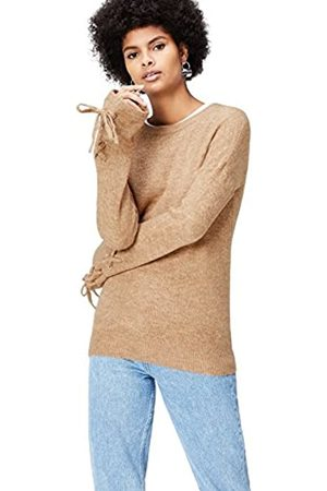 find. Women's Jumper in Longline with Tie and Long Sleeves and Crew Neck