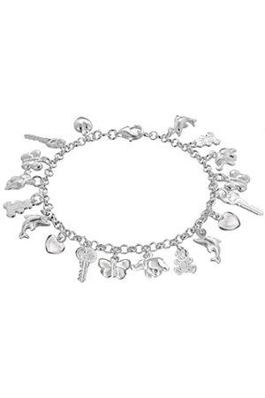 Tuscany Silver Sterling 18 Charm Belcher Bracelet of 19 cm/7.5 inch