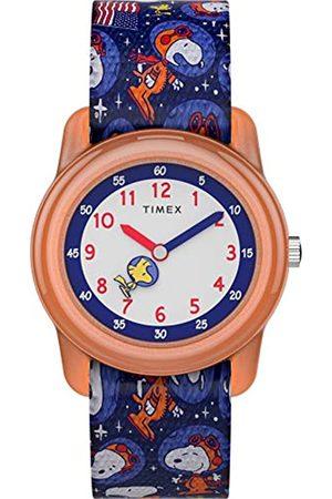 Timex X Space Snoopy - Kid's Analog 28 mm Elastic Fabric Watch TW7C79100