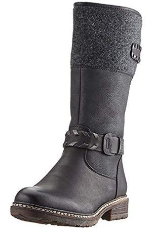 Rieker Women's Herbst/Winter High Boots, (Schwarz/Schwarz/Altsilber/Anthrazit 00)