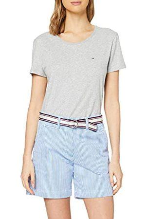 Tommy Hilfiger Women's Cotton Stretch Striped Bermuda Slim Jeans, (Ithaca STP/ - 0Ya)