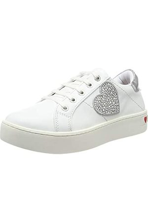 Love Moschino Women's Scarpad.cassetta 35 Mm, VIT.nappato Gymnastics Shoes, (Bianco 100)
