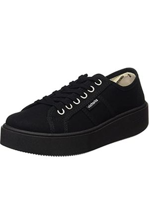 victoria Unisex Adults' Basket Lona Piso Sneakers, (Negro)
