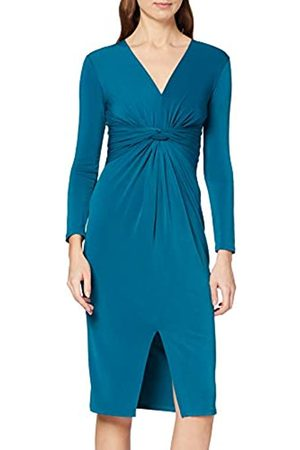 Dorothy Perkins Women's Long Sleeve Manipulated Waist Going Out Midi Dress