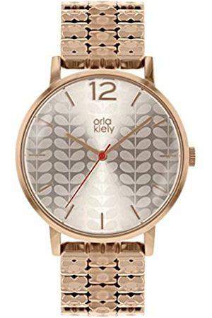 Orla Kiely Womens Analogue Classic Quartz Watch with Brass Strap OK4094