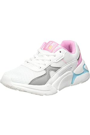 Dockers Unisex Kids' 46np602-617502 Low-Top Sneakers, (Weiss/Grau 502)