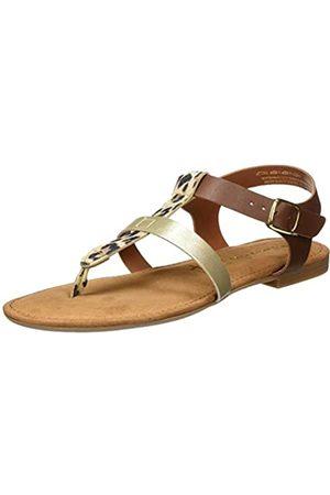 Tamaris Women's 1-1-28144-24 Leder Flip Flops, (Cognac Comb 392)