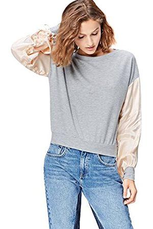 find. Women's Sweatshirt with Satin Sleeve and Crew Neck