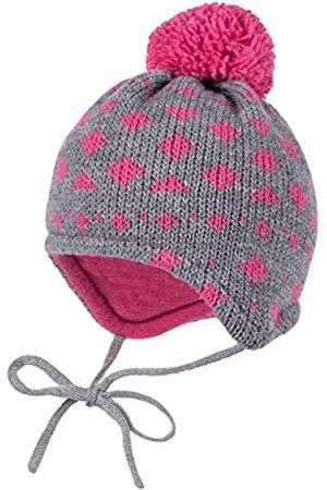 maximo Girl's Mütze, ausgenäht, Bommel, Bindeband Hat