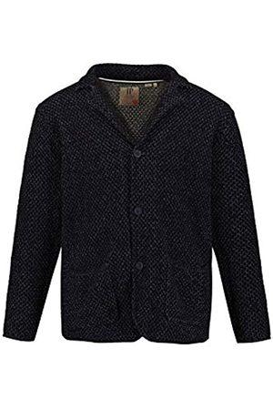 JP 1880 Men's Big & Tall Knitted Jacket Navy-Melange XXXXX-Large 723437 70-5XL