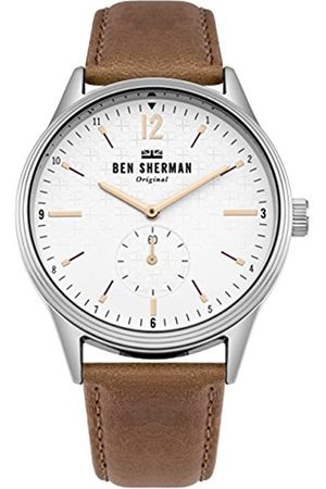 Ben Sherman Mens Analogue Classic Quartz Watch with Leather Strap WB015T