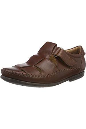 Clarks Men's Un Gala Strap Closed Toe Sandals, (Dark Tan Lea)
