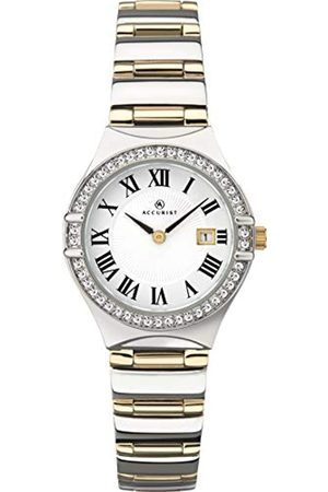Accurist Womens Japanese Quartz Watch With Stone Set BezelClear Roman Numeral Dial30m Water ResistantJewellery Type Clasp2 year guarantee.