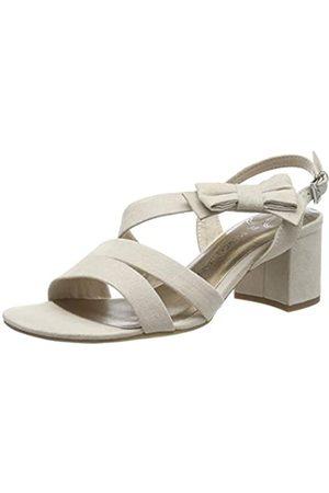 MARCO TOZZI Women's 2-2-28300-22 Ankle Strap Sandals, (Dune 404)
