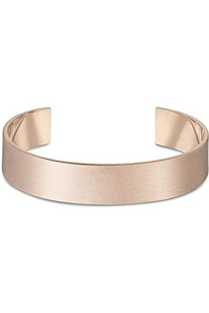 Arque Extra Wide Brushed Rose Plated Brass Medium/Large Cuff of Length 15.8 cm