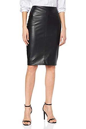 Karen Millen Women's Faux Leather Skirt