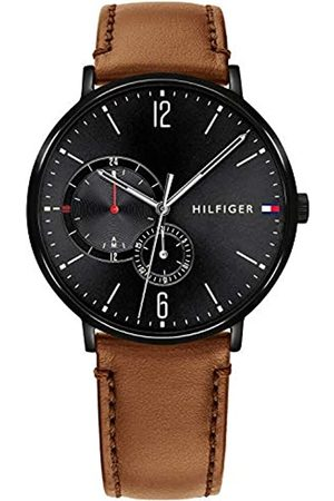 Tommy Hilfiger Mens Multi dial Quartz Watch with Leather Strap 1791510
