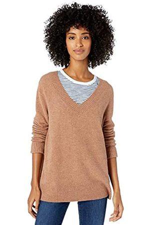 Goodthreads Mid-gauge Stretch V-neck Sweater Caramel Heather