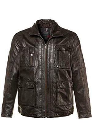 JP 1880 Men's Big & Tall Vintage Look Lamb's Leather Jacket Dark XX-Large 714146 30-XXL