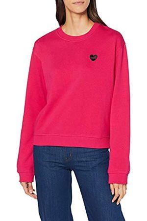 Love Moschino Women's Heart Shaped Badge_Long Sleeve Sweatshirt