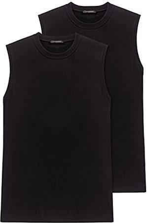 Schiesser Men's Vest 2 He Pack 208010-000, Gr. 6 L
