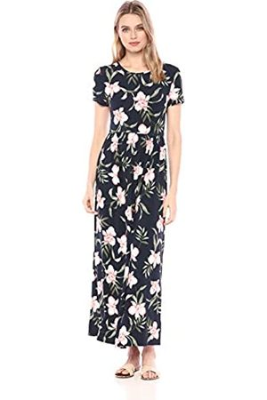 Amazon Short-sleeve Waisted Maxi Dress