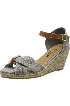 MUSTANG Women's 1248-803-22 Ankle Strap Sandals, (hellgrau 22)