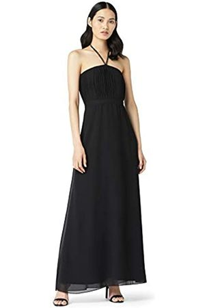 TRUTH & FABLE Bm Bling Halter Pleat Maxi Party Dress, )