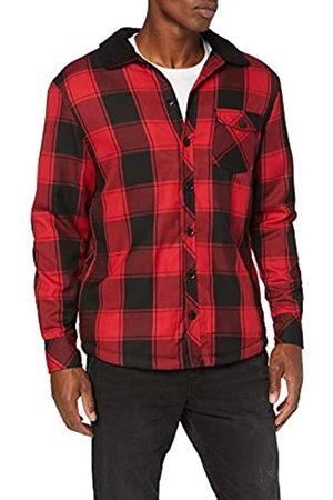 Urban Classics Men's Sherpa Lined Shirt Jacket Denim