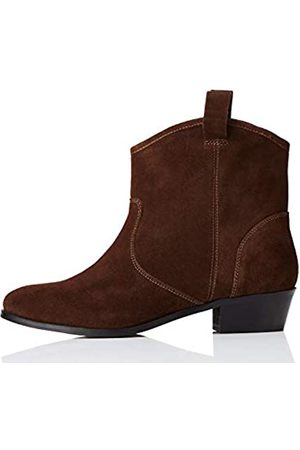 FIND Pull On Leather Casual Western Ankle Boots, )