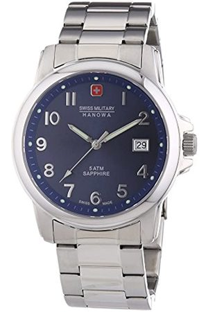 Swiss Military Men's Quartz Watch with Dial Analogue Display and Stainless Steel Bracelet 6-5231.04.003