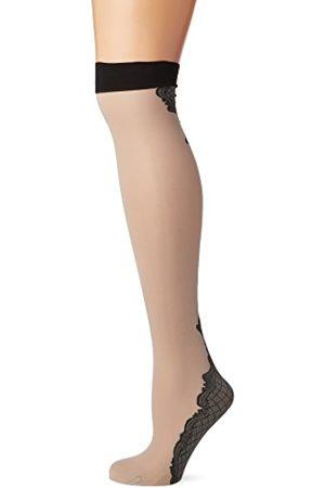 Fiore di Lucia Milano Women's Vanity/Storia Suspender Stockings, 40 DEN, (Linen)