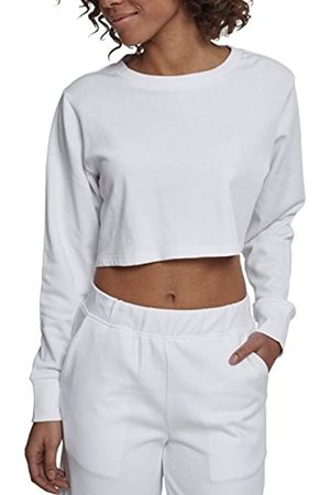 Urban classics Women's Ladies Terry Cropped Crew Sweater