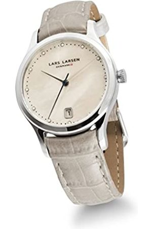 Lars Larsen Clara Women's Quartz Watch with Mother of Pearl Dial Analogue Display and Leather Strap 139SMPL