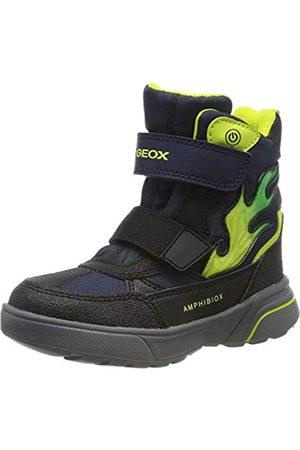 Geox Boys' J SVEGGEN B ABX D Snow Boots, Blau (Navy/Lime Cf43s)