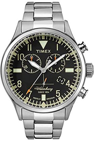 Timex Mens Chronograph Quartz Watch with Stainless Steel Strap TW2R24900