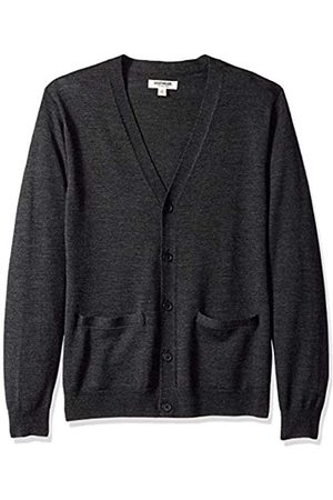 Goodthreads Men's Merino Wool Cardigan jumper Sweatshirt, (charcoal)