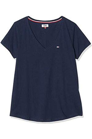Tommy Hilfiger Women's TJW Soft Jersey V-Neck TEE Sports Knitwear