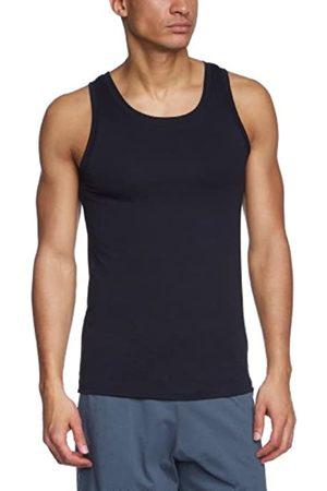 Schiesser Men's Shirt 0/0 Vest, -Schwarz (Schwarz 000)