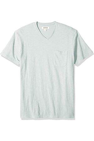 Goodthreads Short-sleeve Striped Slub V-neck Pocket T-shirt